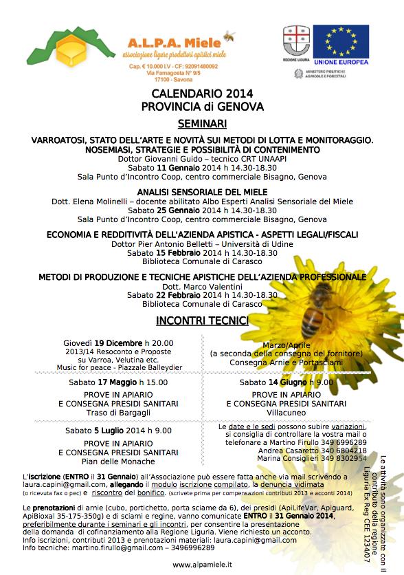 incontri a Genova e Carasco