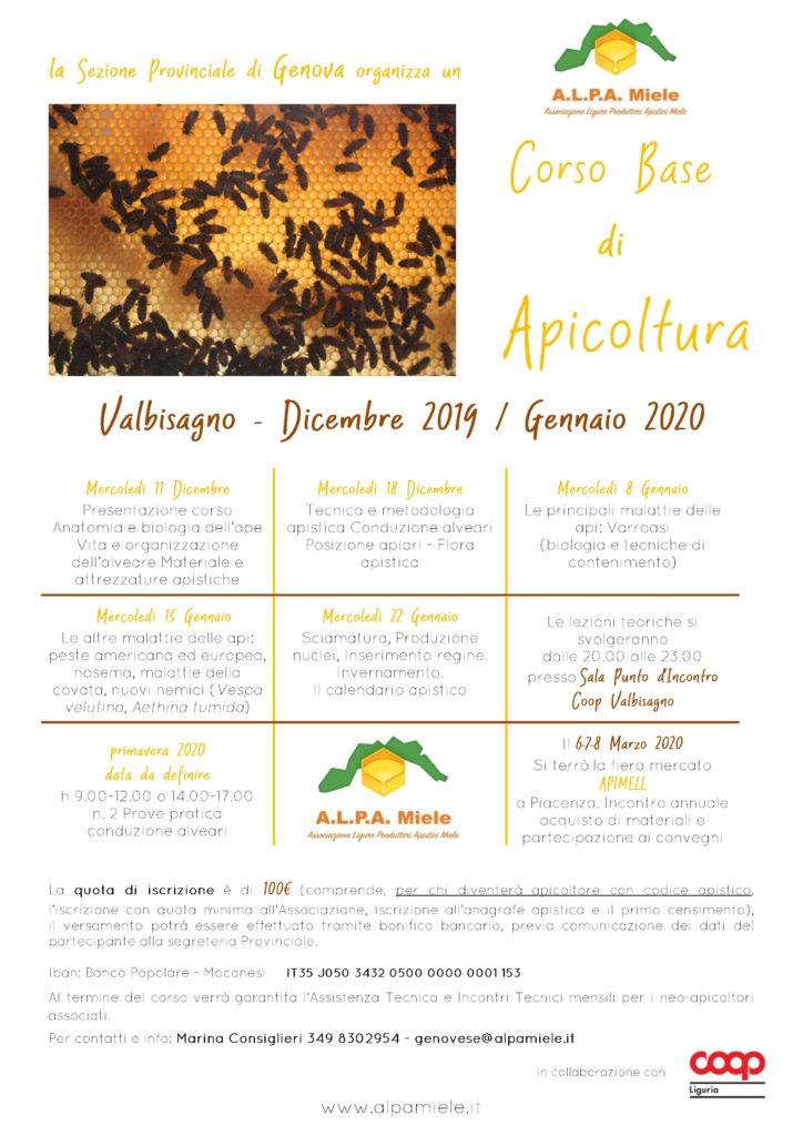 Corso base apicoltura Genova Valbisagno 19-20
