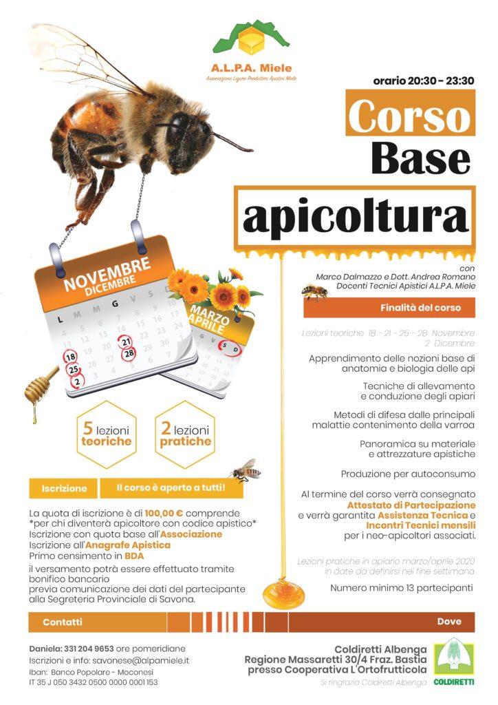 corso base apicoltura albenga 2019-20